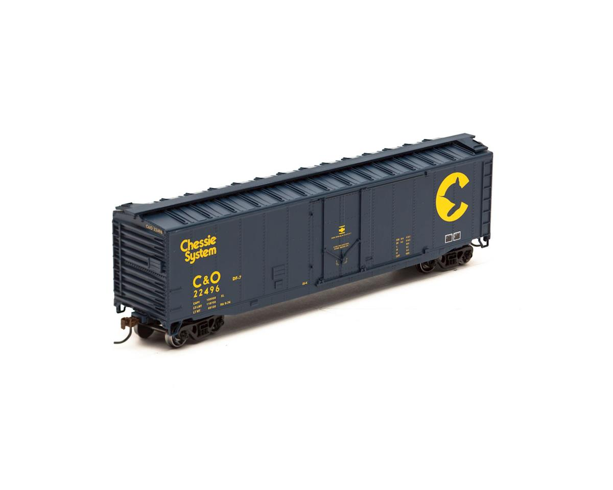 Roundhouse HO 50' Plug Door Box, C&O #22496