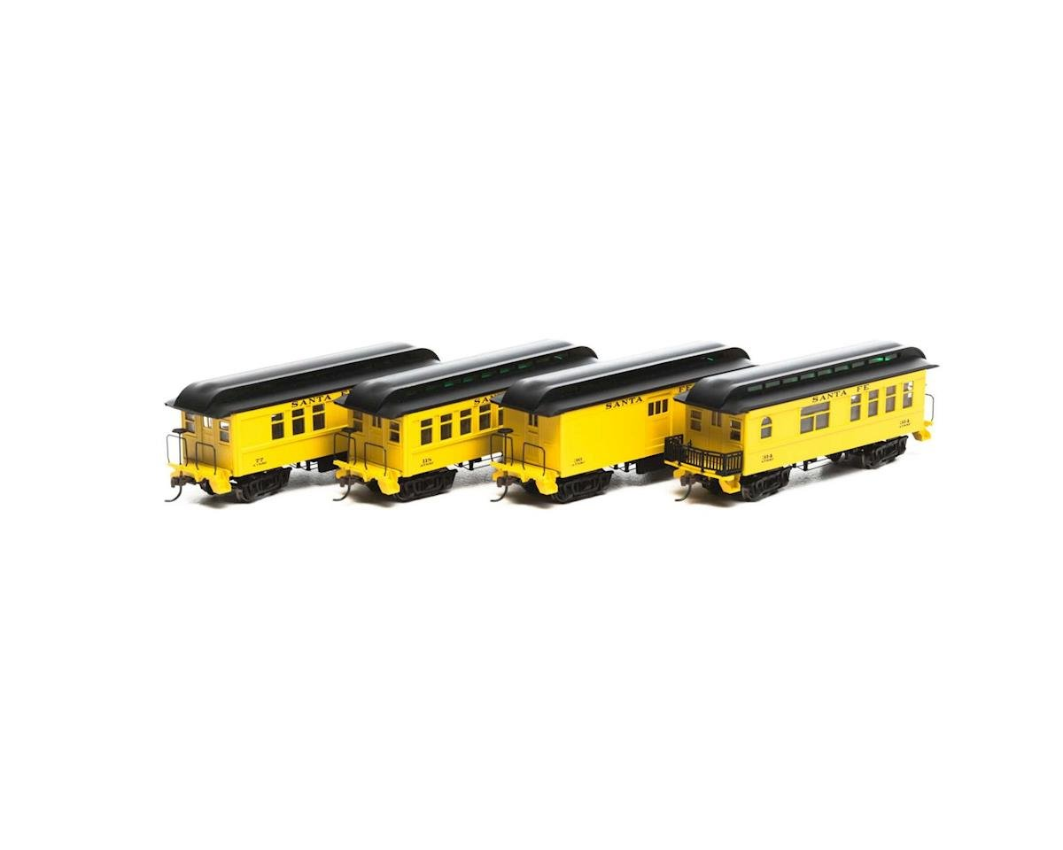 HO RTR 34' Old Time Overton Pass Set, SF (4) by Roundhouse