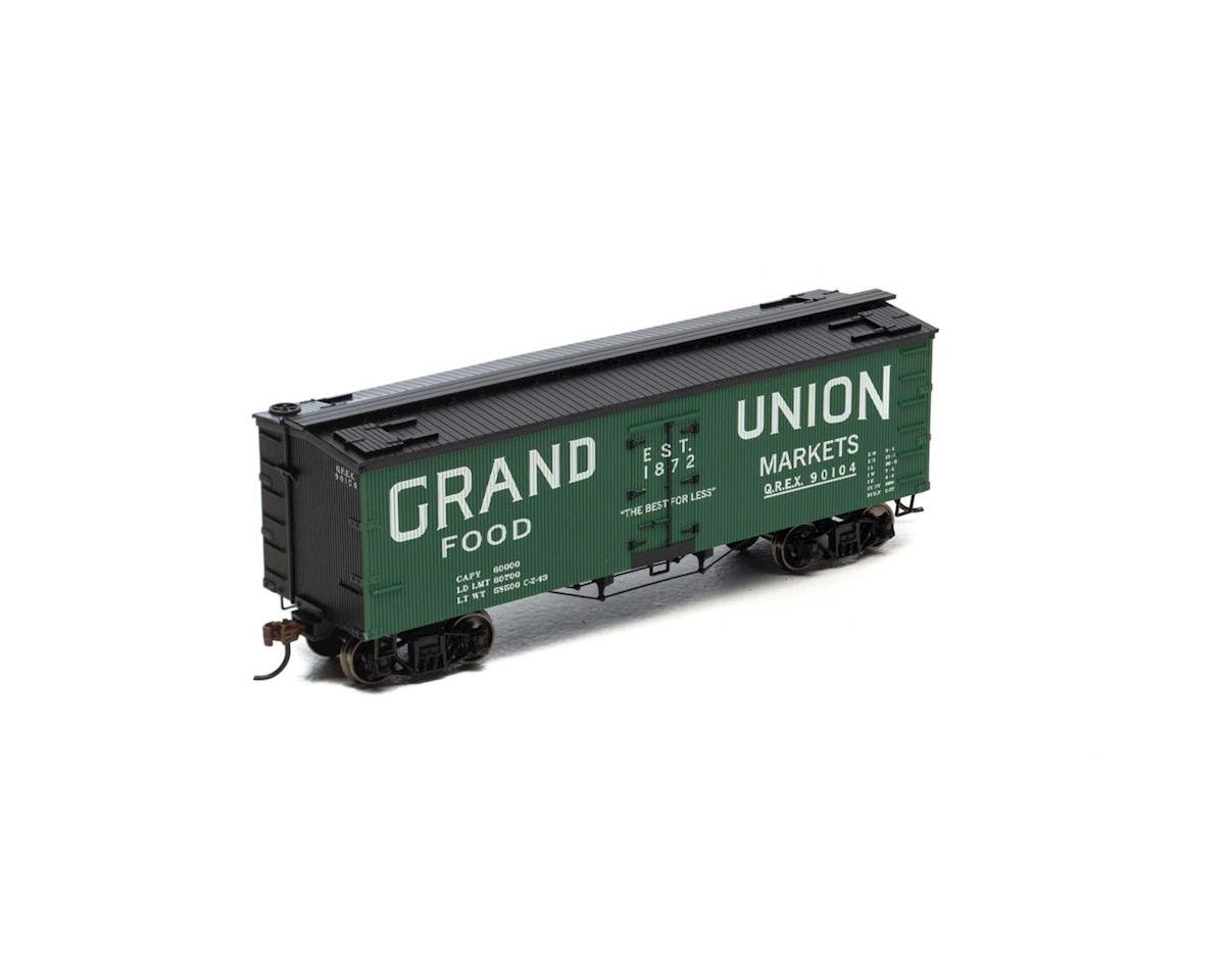 HO 36' Old Time Wood Reefer,Grand Union/QREX#90104 by Roundhouse