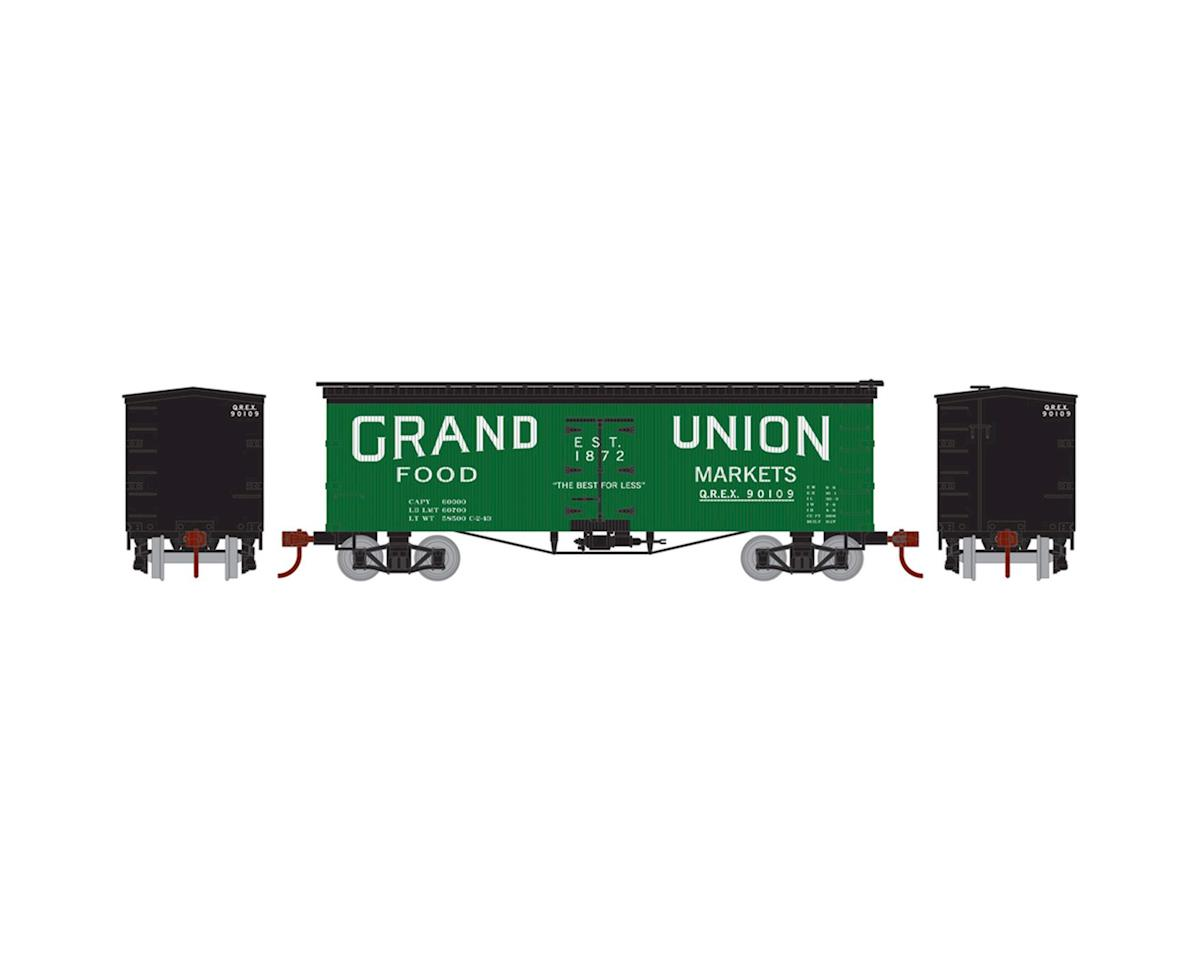 Roundhouse HO 36' Old Time Wood Reefer,Grand Union/QREX#90109