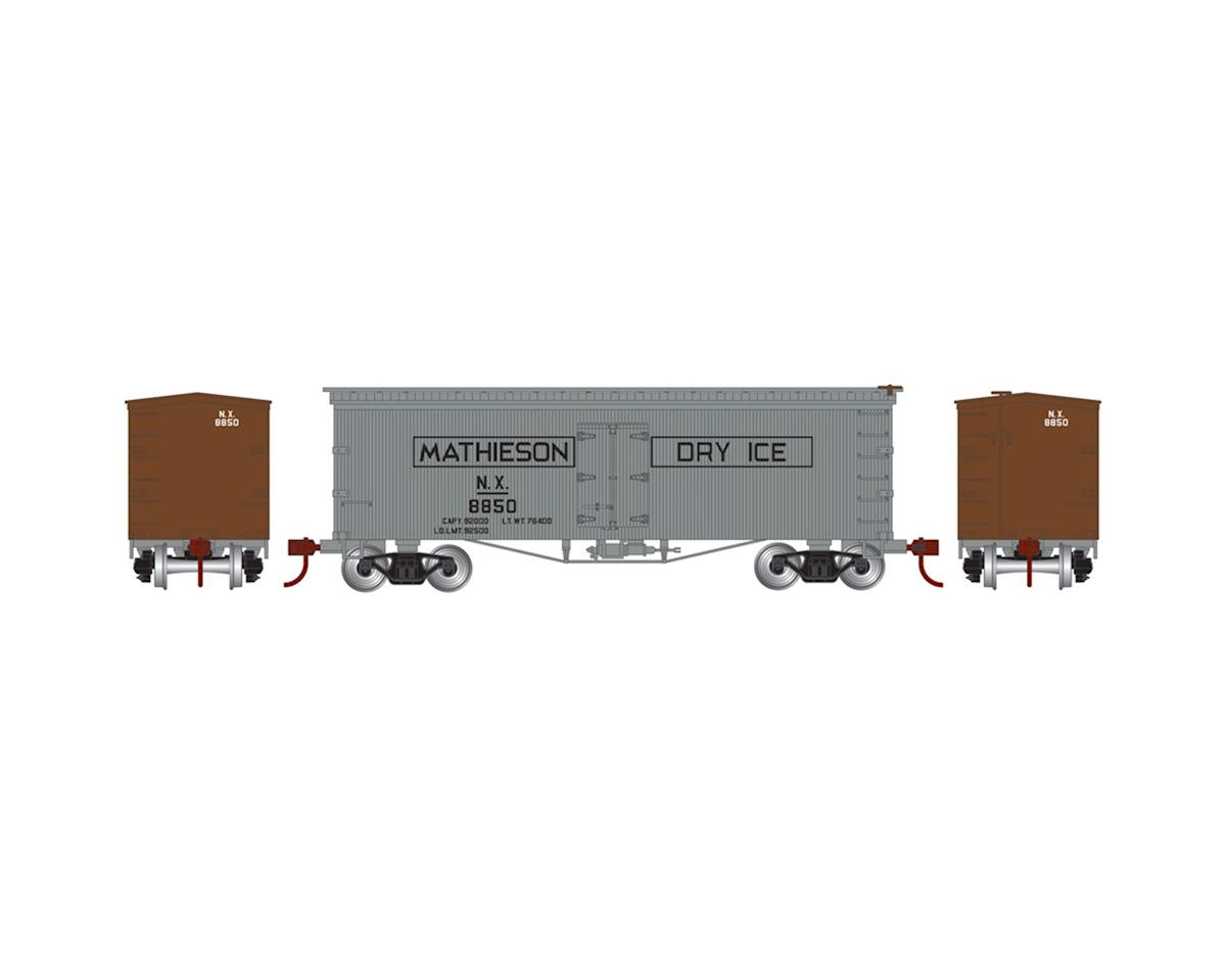 HO 36' Old Time Wood Reefer,Mathieson Dry Ice#8850