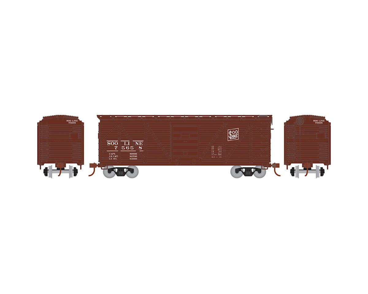 Roundhouse HO 40' Single Sheathed Box, SOO #75658