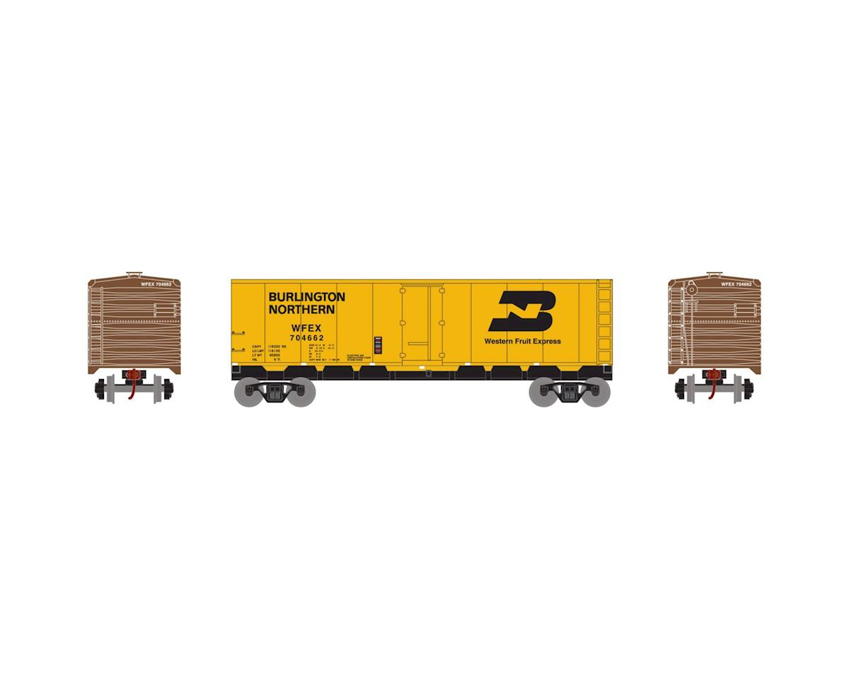 HO 40' Steel Reefer, BN/WFE #704662 by Roundhouse