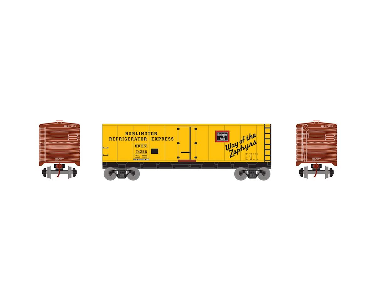 Roundhouse HO 40' Steel Reefer, CB&Q #74255