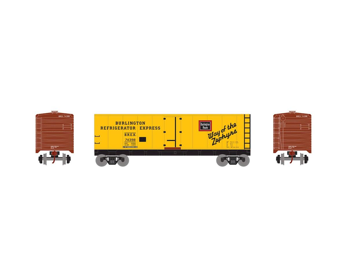Roundhouse HO 40' Steel Reefer, CB&Q #74398