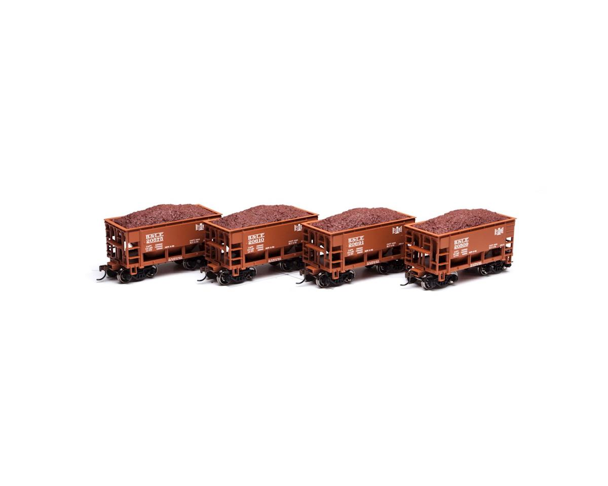 Roundhouse HO 24' Ribbed Ore Car w/Load, B&LE #1 (4)