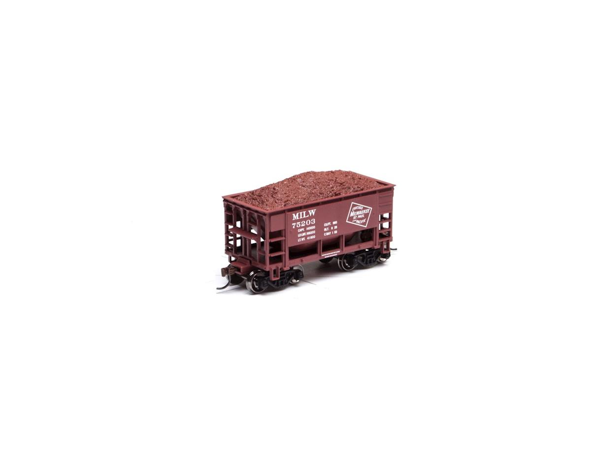 Roundhouse HO 24' Ribbed Ore Car w/Load, MILW #75203