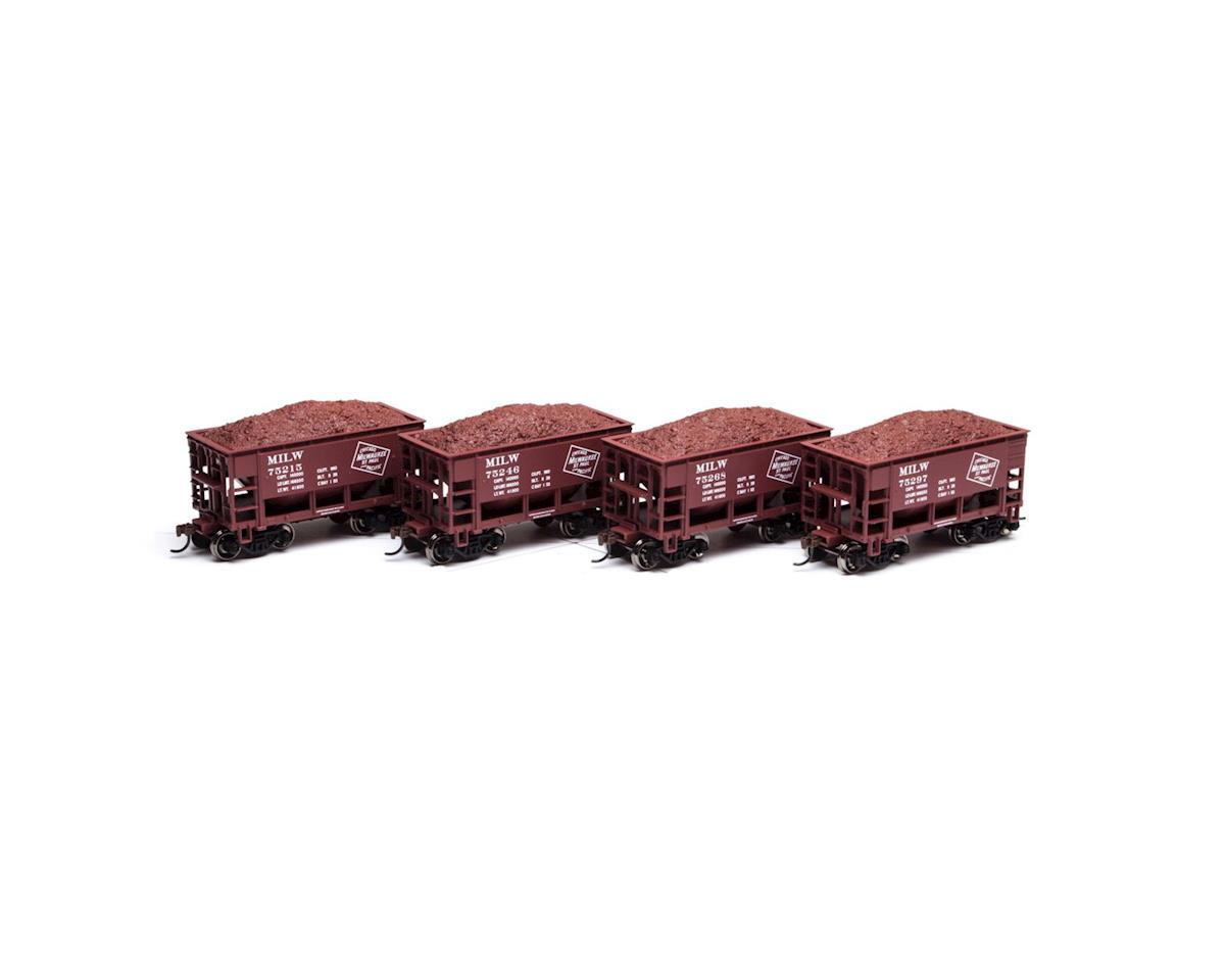 Roundhouse HO 24' Ribbed Ore Car w/Load, MILW #1 (4)