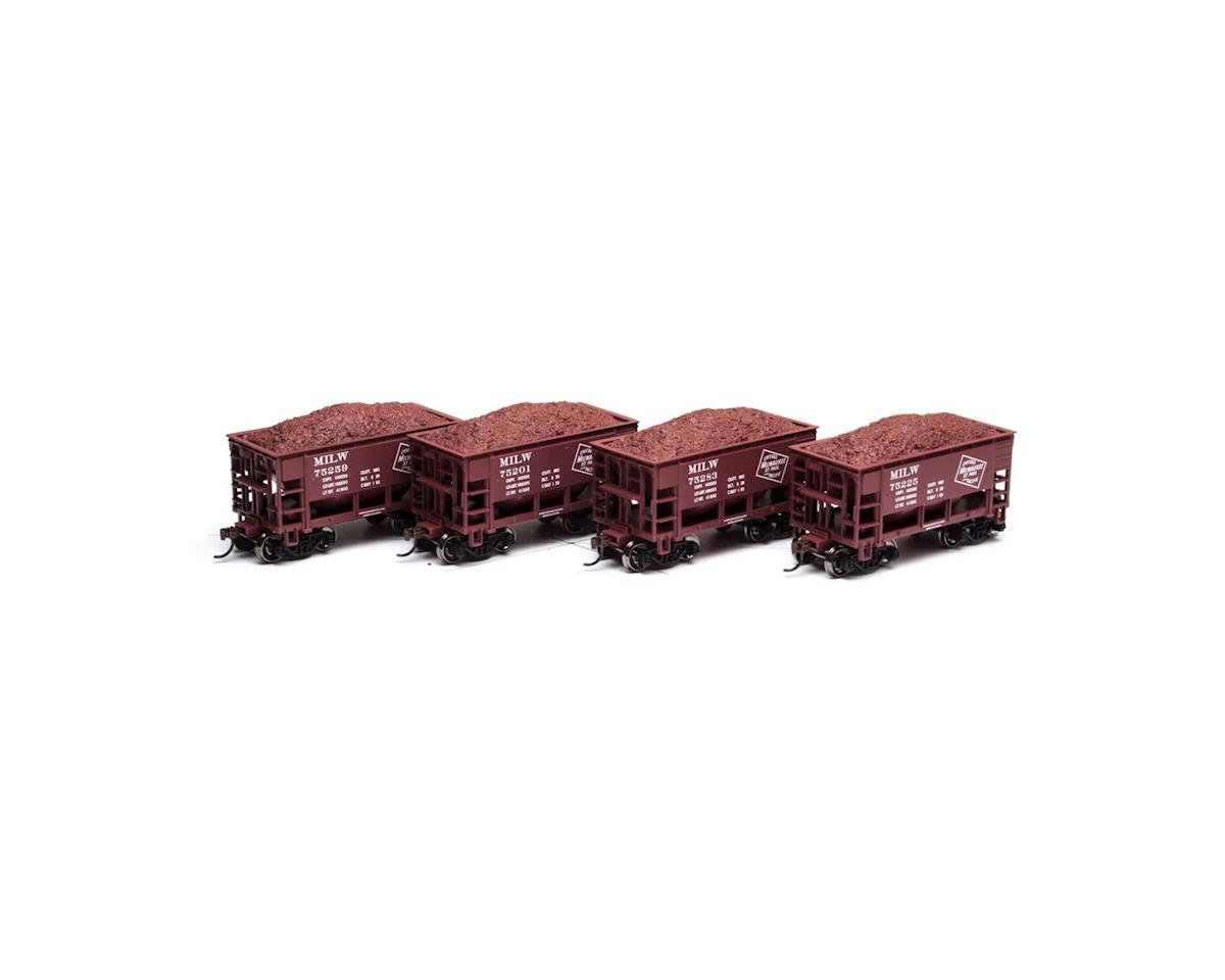 Roundhouse HO 24' Ribbed Ore Car w/Load, MILW #2 (4)