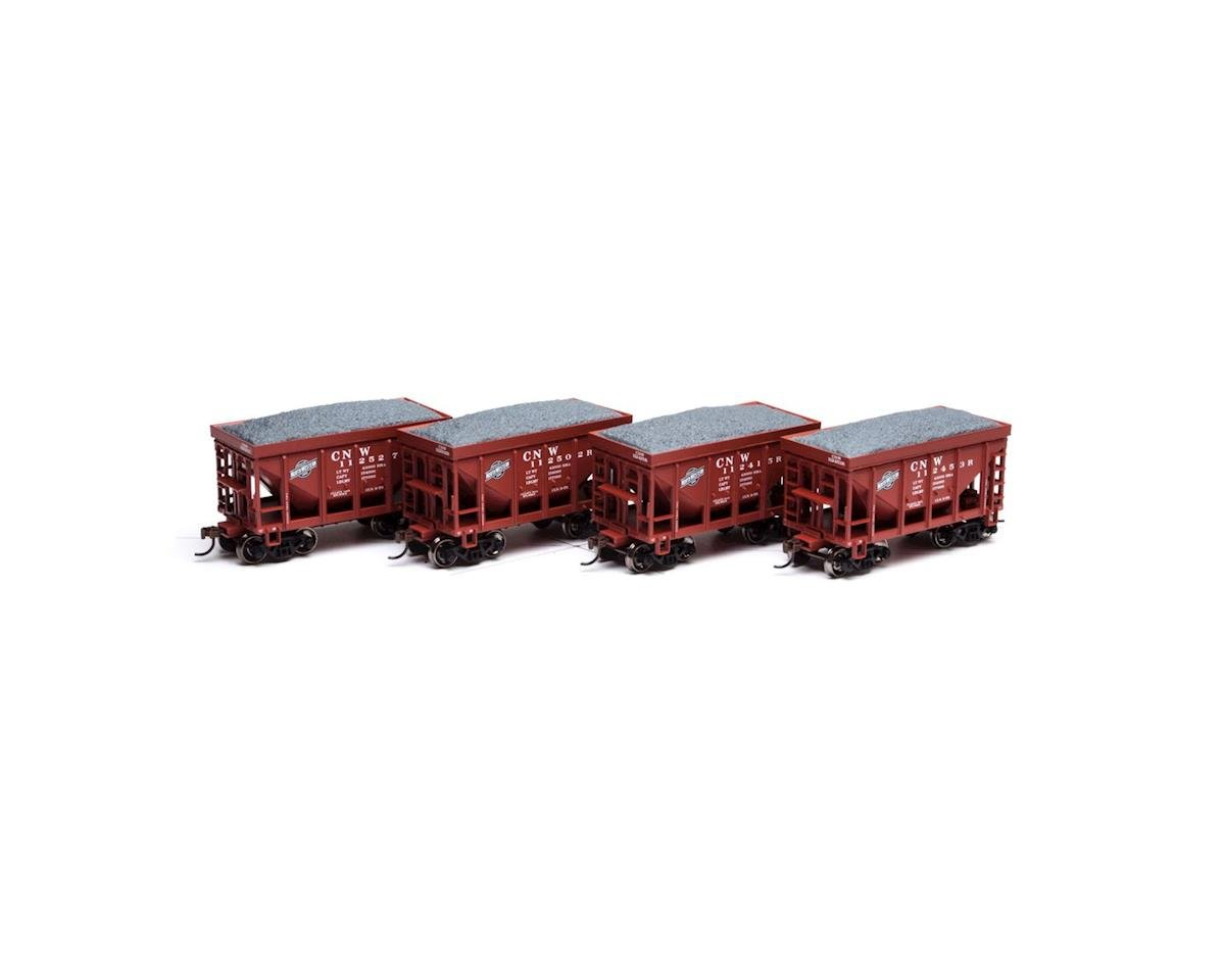 Roundhouse HO 24' Ribbed Ore Car w/Load, C&NW #1 (4)