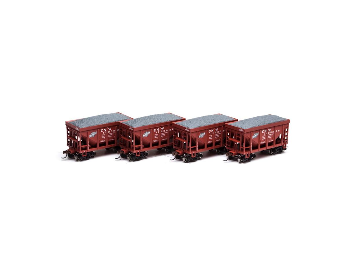 Roundhouse HO 24' Ribbed Ore Car w/Load, C&NW #2 (4)