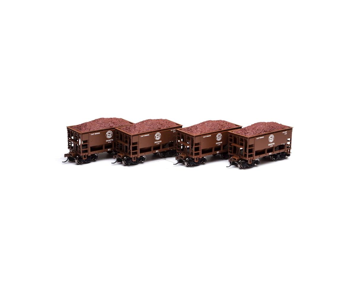 Roundhouse HO 24' Ribbed Ore Car w/Load, DM&IR #1 (4)