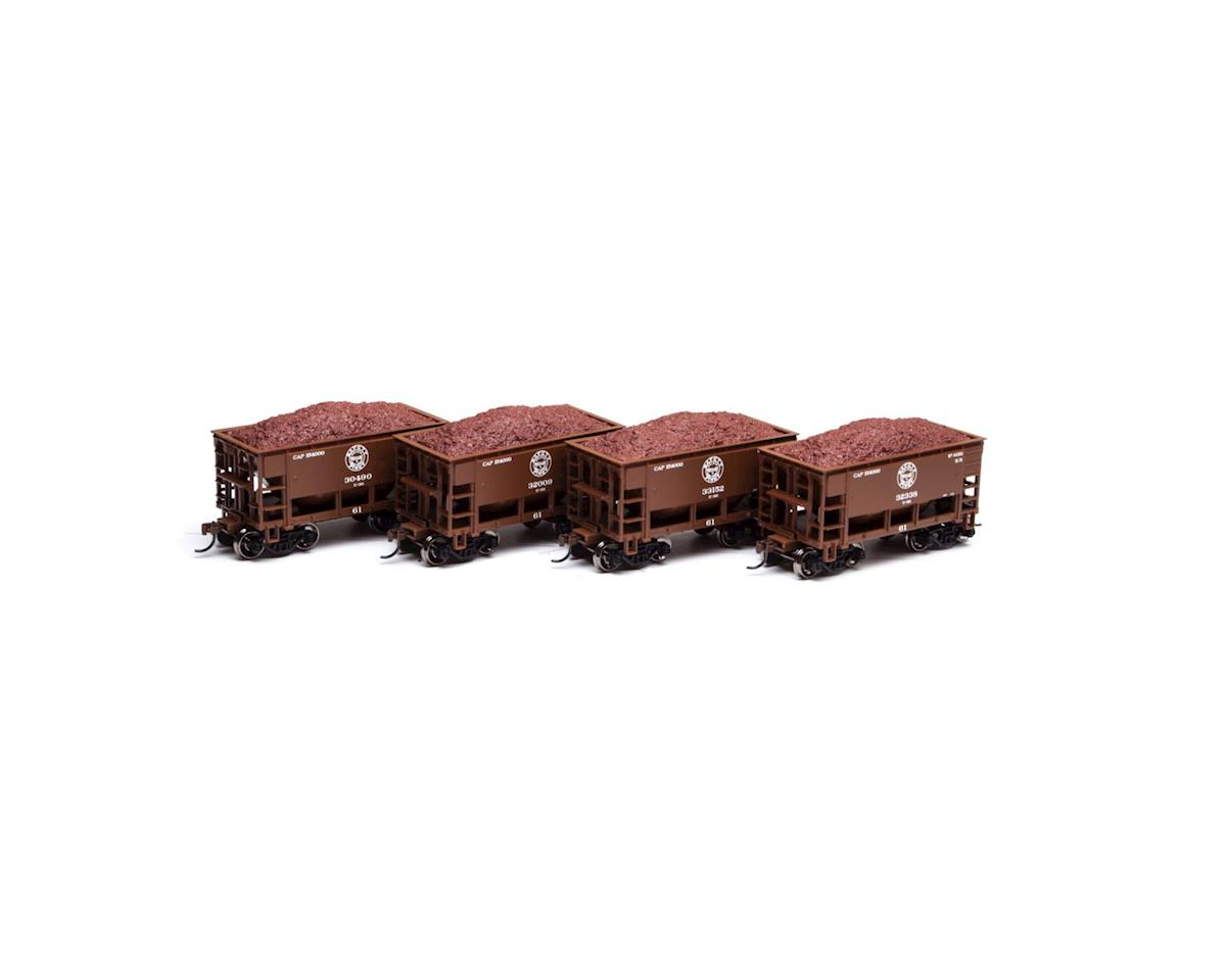 Roundhouse HO 24' Ribbed Ore Car w/Load, DM&IR #2 (4)