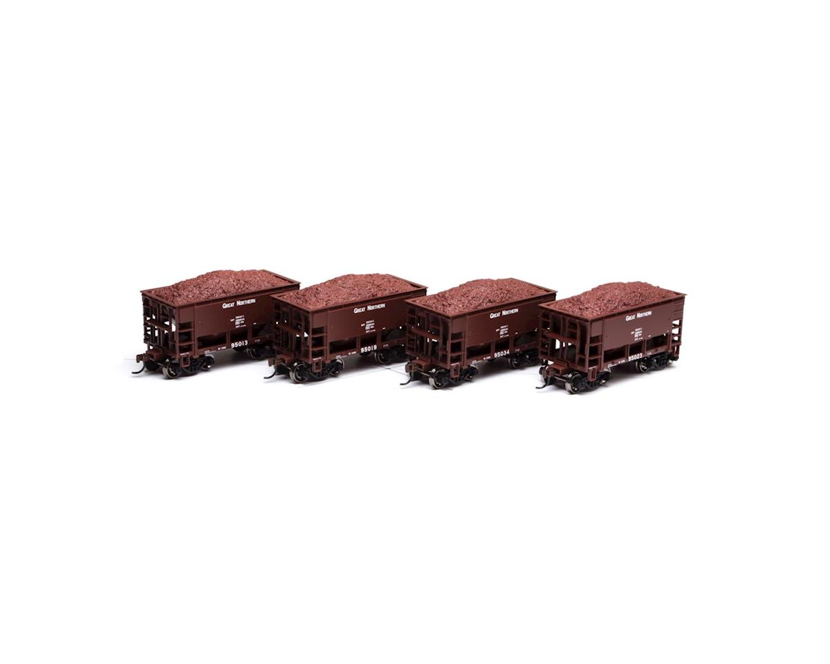Roundhouse HO 24' Ribbed Ore Car w/Load, GN #2 (4)