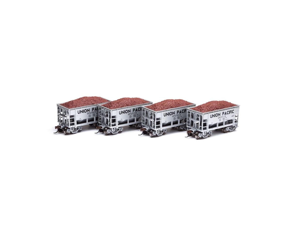 Roundhouse HO 24' Ribbed Ore Car w/Load, UP #1 (4)
