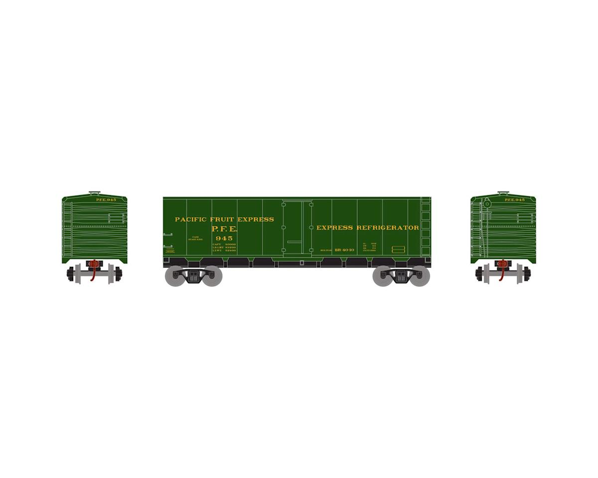 Roundhouse HO 40' Steel Reefer, PFE/Green #945