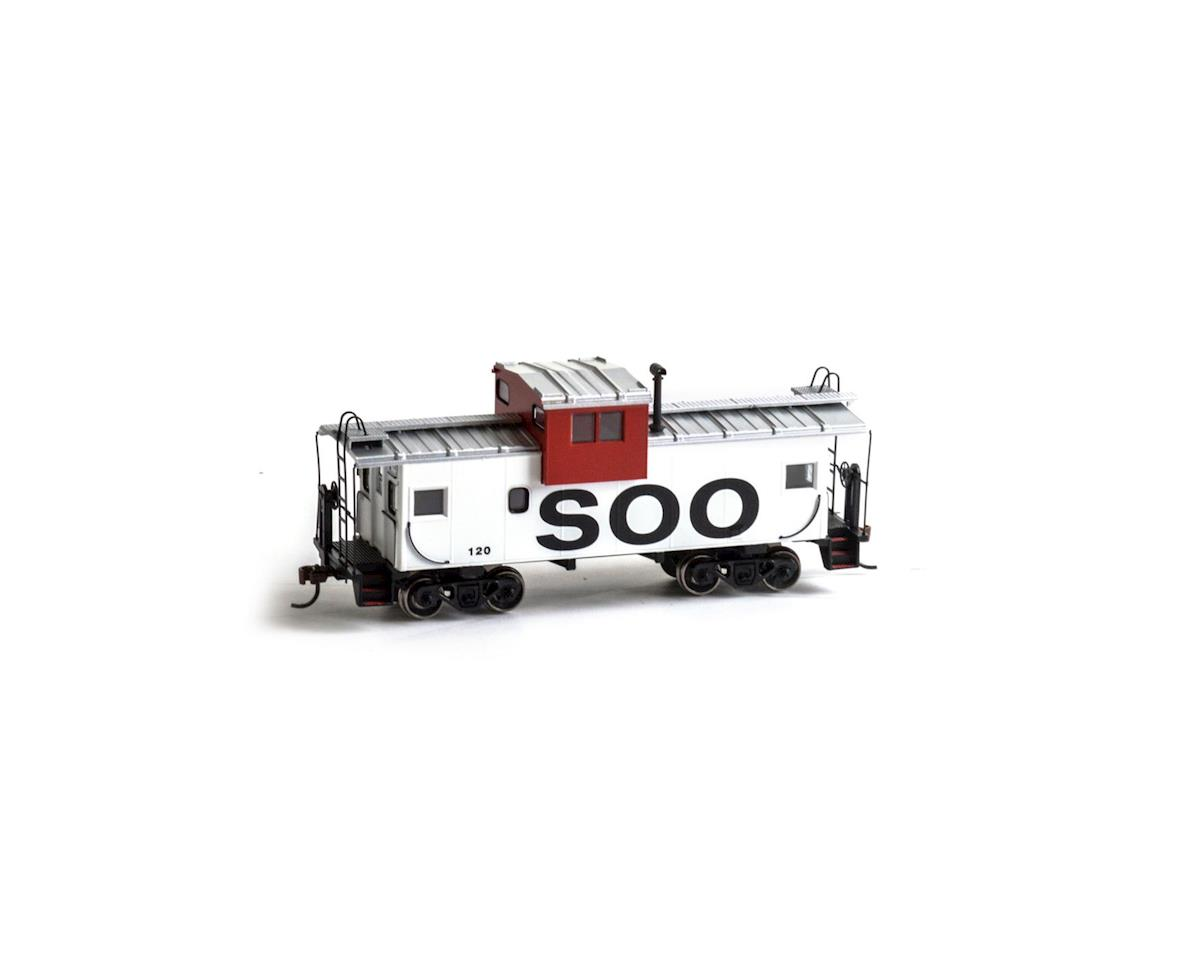 Roundhouse HO Wide Vision Caboose, SOO #120