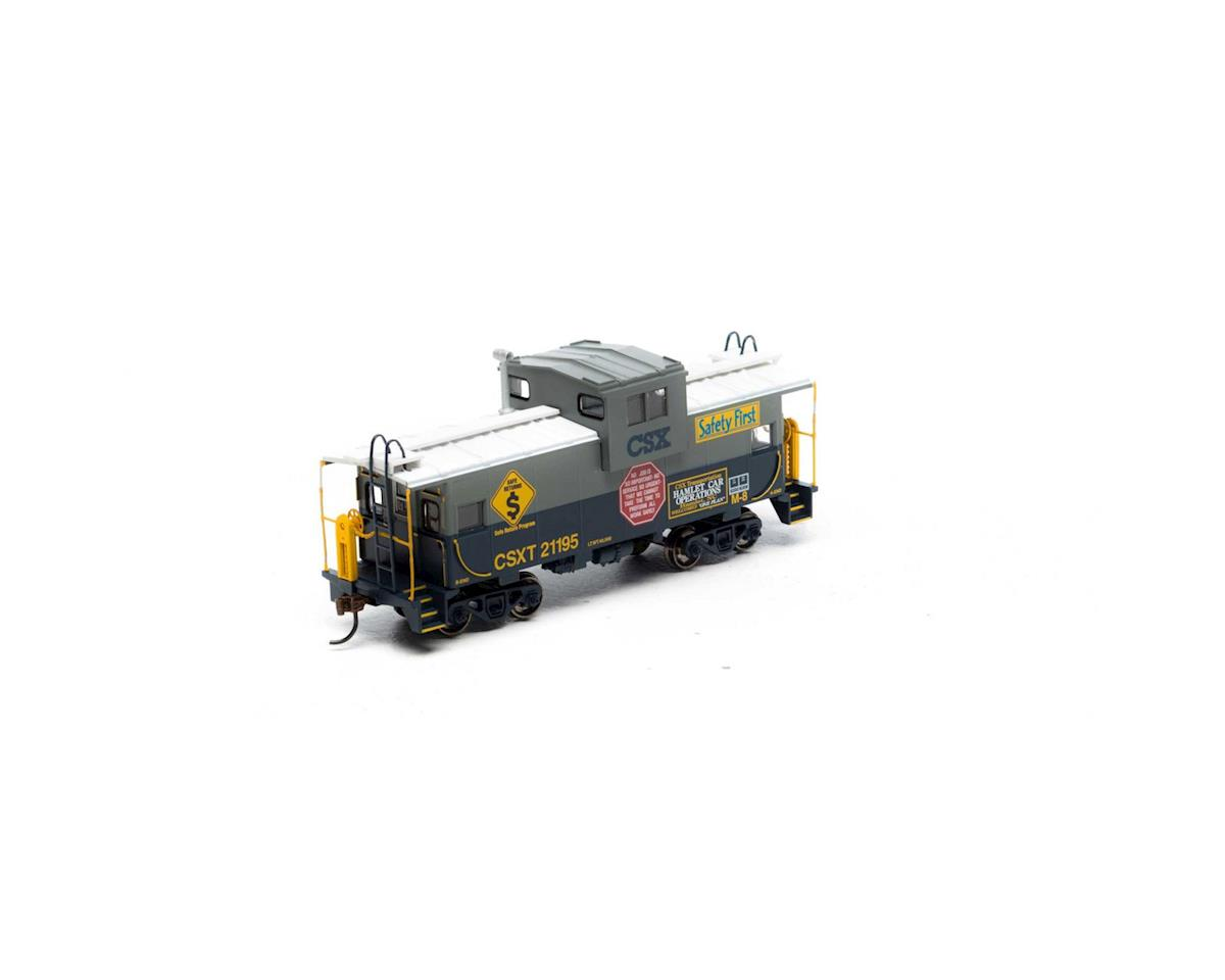 Roundhouse HO Wide Vision Caboose, Chessie/CSX Safety #21195