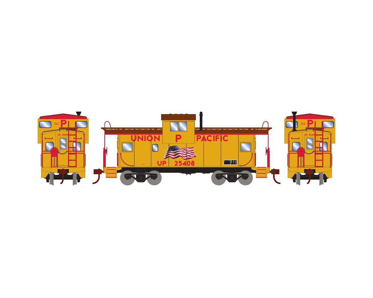 Roundhouse HO Wide Vision Caboose, UP/Flag #25408