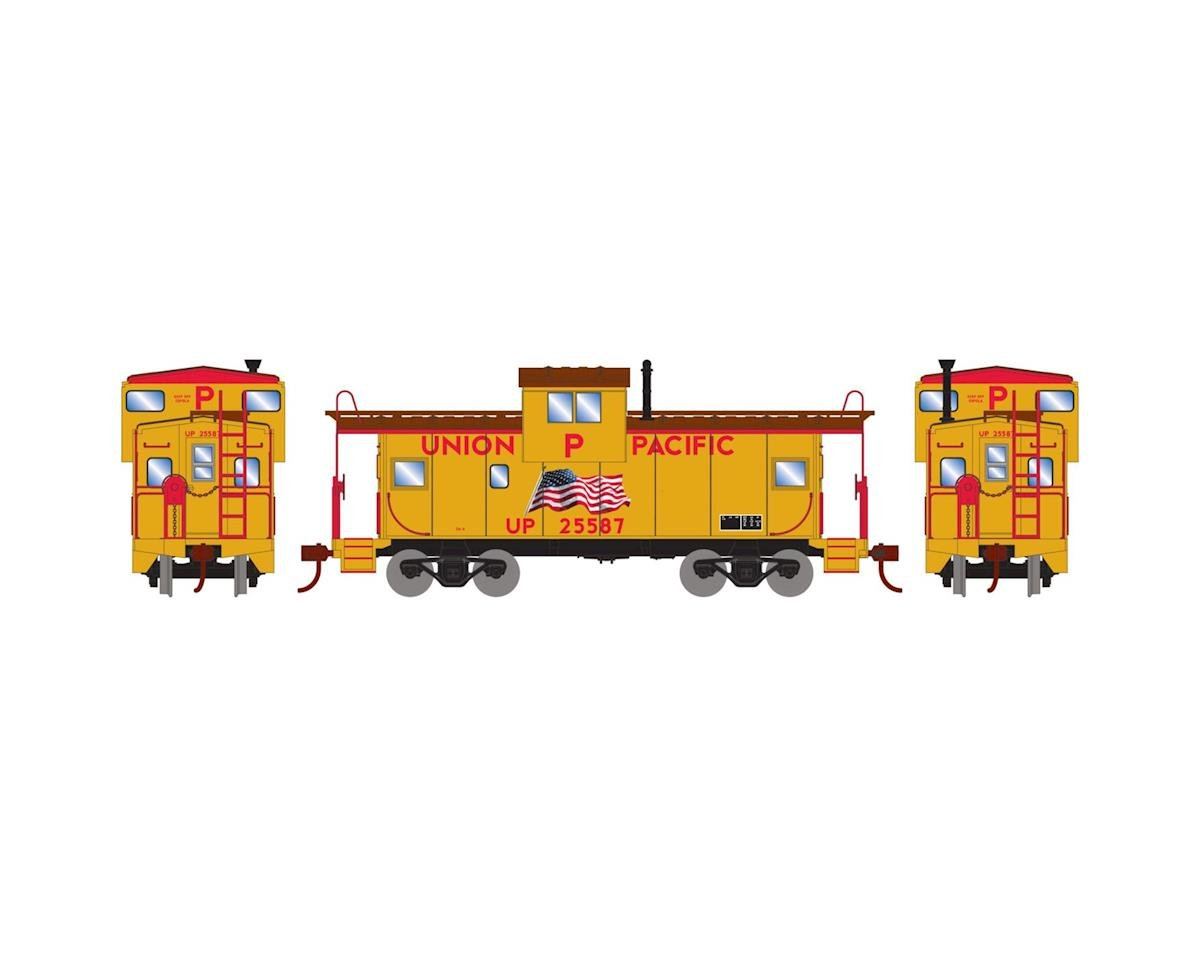 Roundhouse HO Wide Vision Caboose, UP/Flag #25587