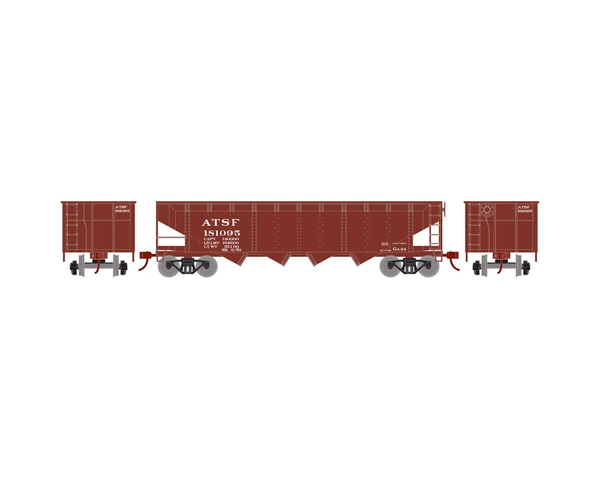 Roundhouse HO 40' 4-Bay Offset Hopper w/Coal Load, SF #181095