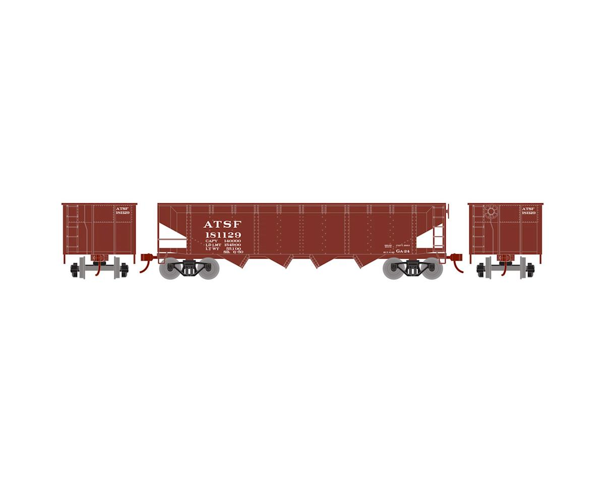 HO 40' 4-Bay Offset Hopper w/Coal Load, SF #181129 by Roundhouse
