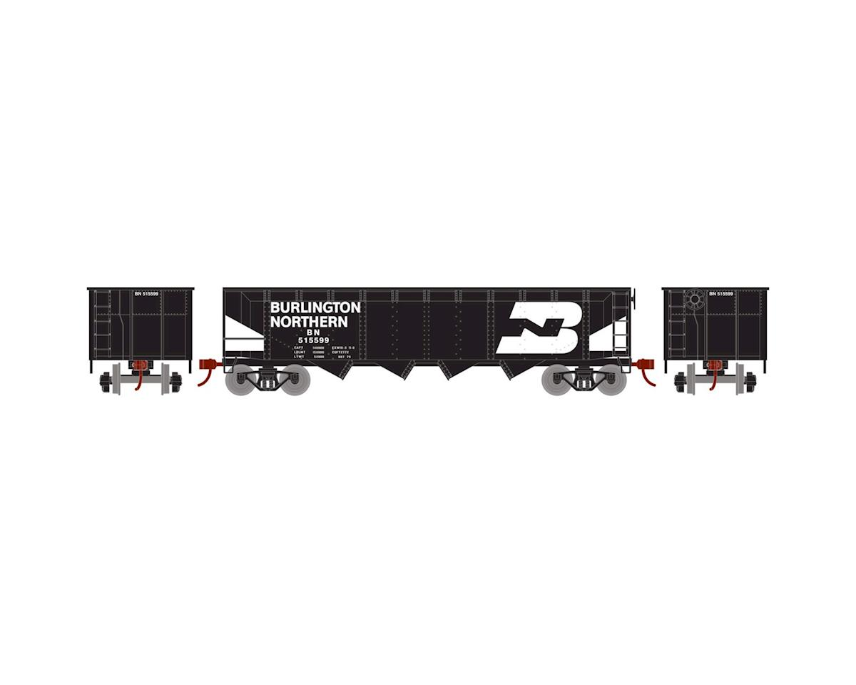 HO 40' 4-Bay Offset Hopper w/Coal Load, BN #515599 by Roundhouse