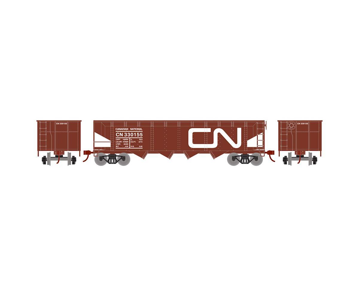 Roundhouse HO 40' 4-Bay Offset Hopper w/Coal Load, CN #330155