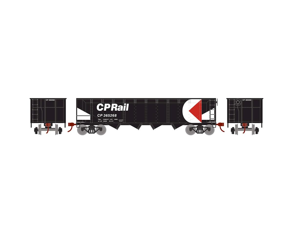 Roundhouse HO 40' 4-Bay Offset Hopper w/Coal Load,CPR #365268