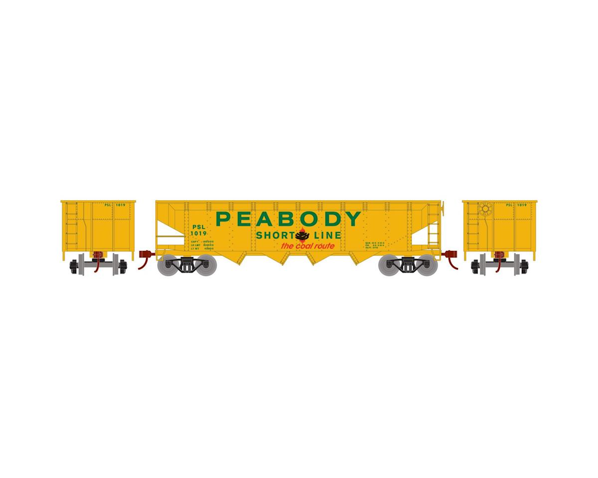 Roundhouse HO 40' 4-Bay Offset Hopper w/Coal Load, PCCX #1019