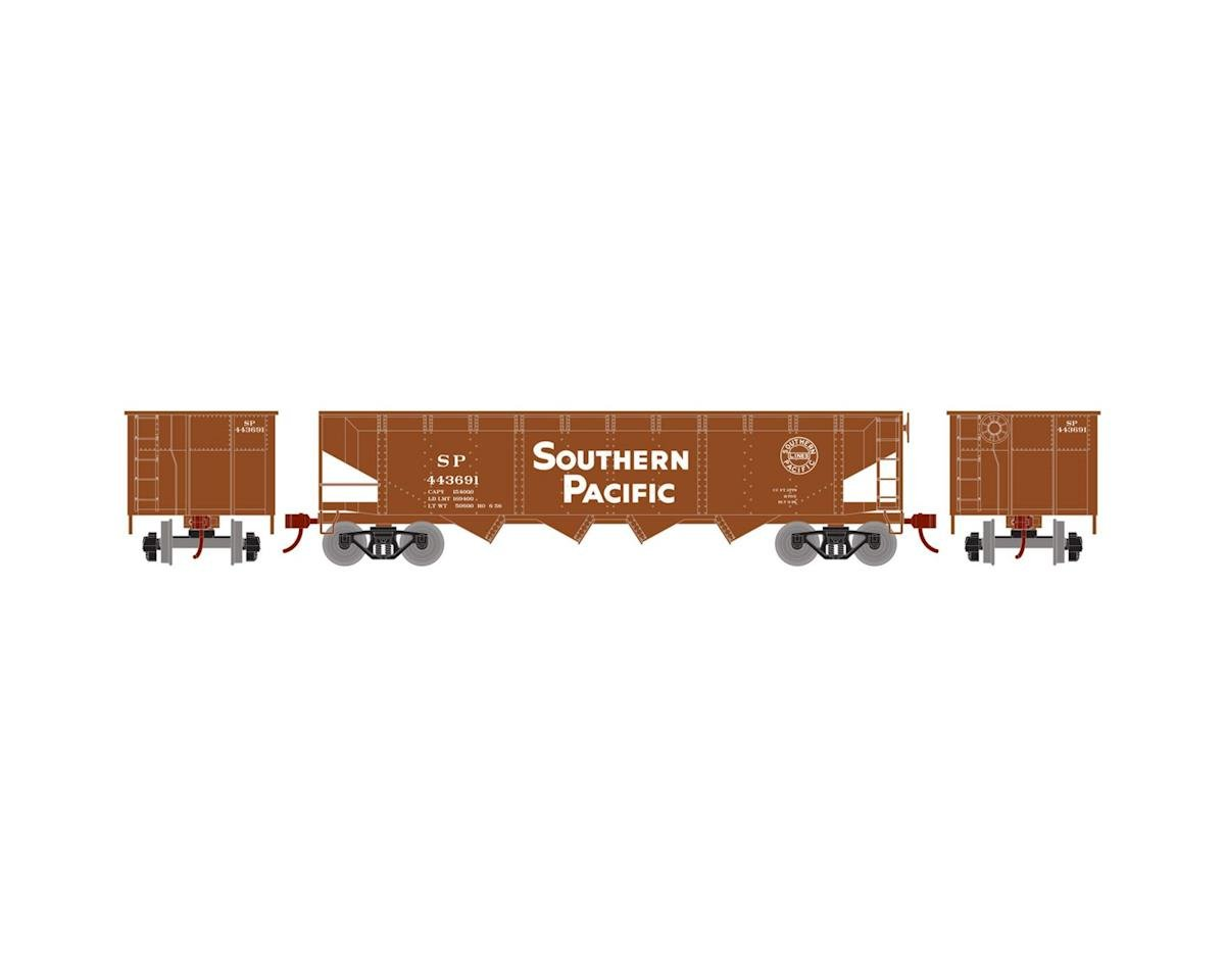 Roundhouse HO 40' 4-Bay Offset Hopper w/Coal Load, SP #443691