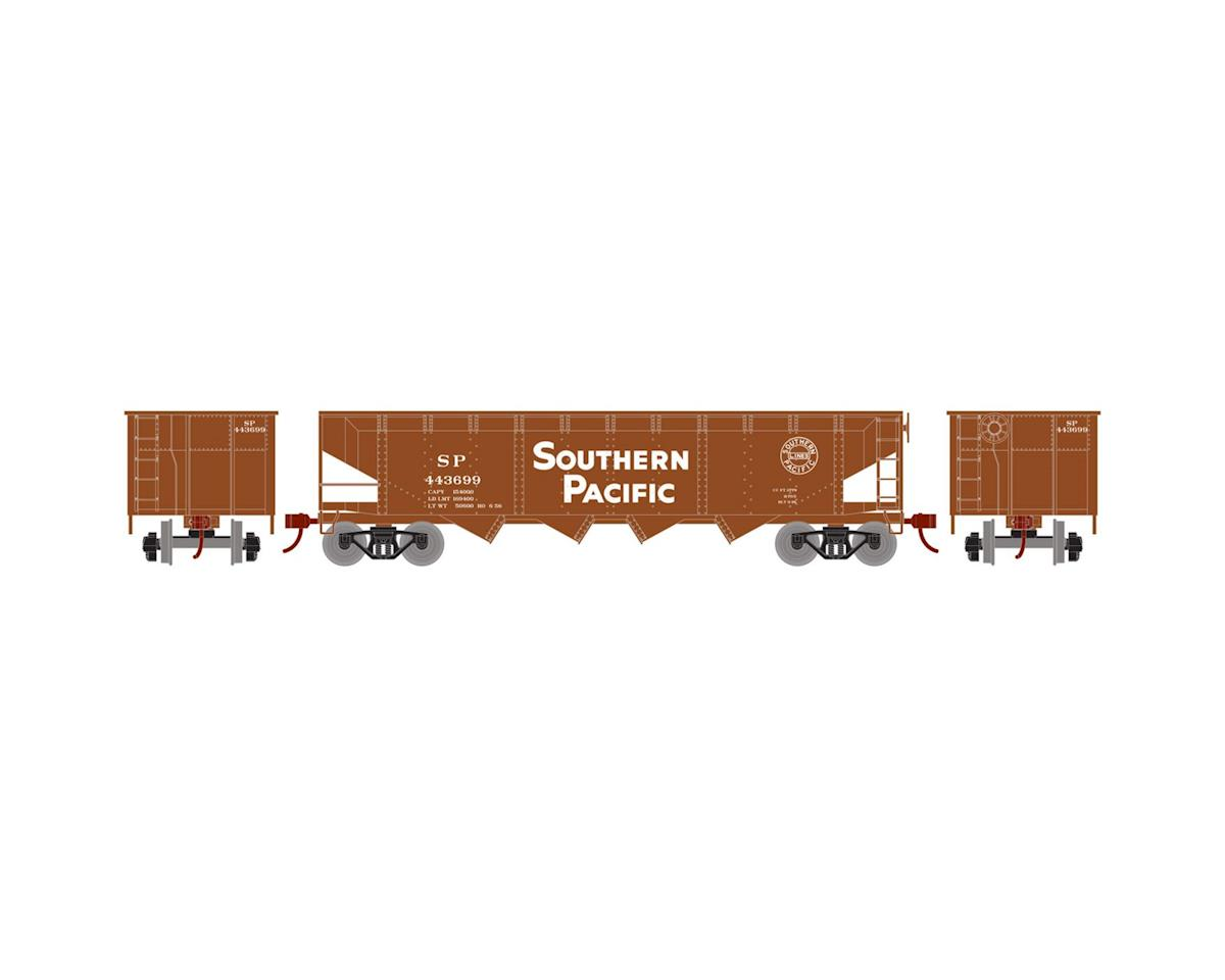 HO 40' 4-Bay Offset Hopper w/Coal Load, SP #443699 by Roundhouse