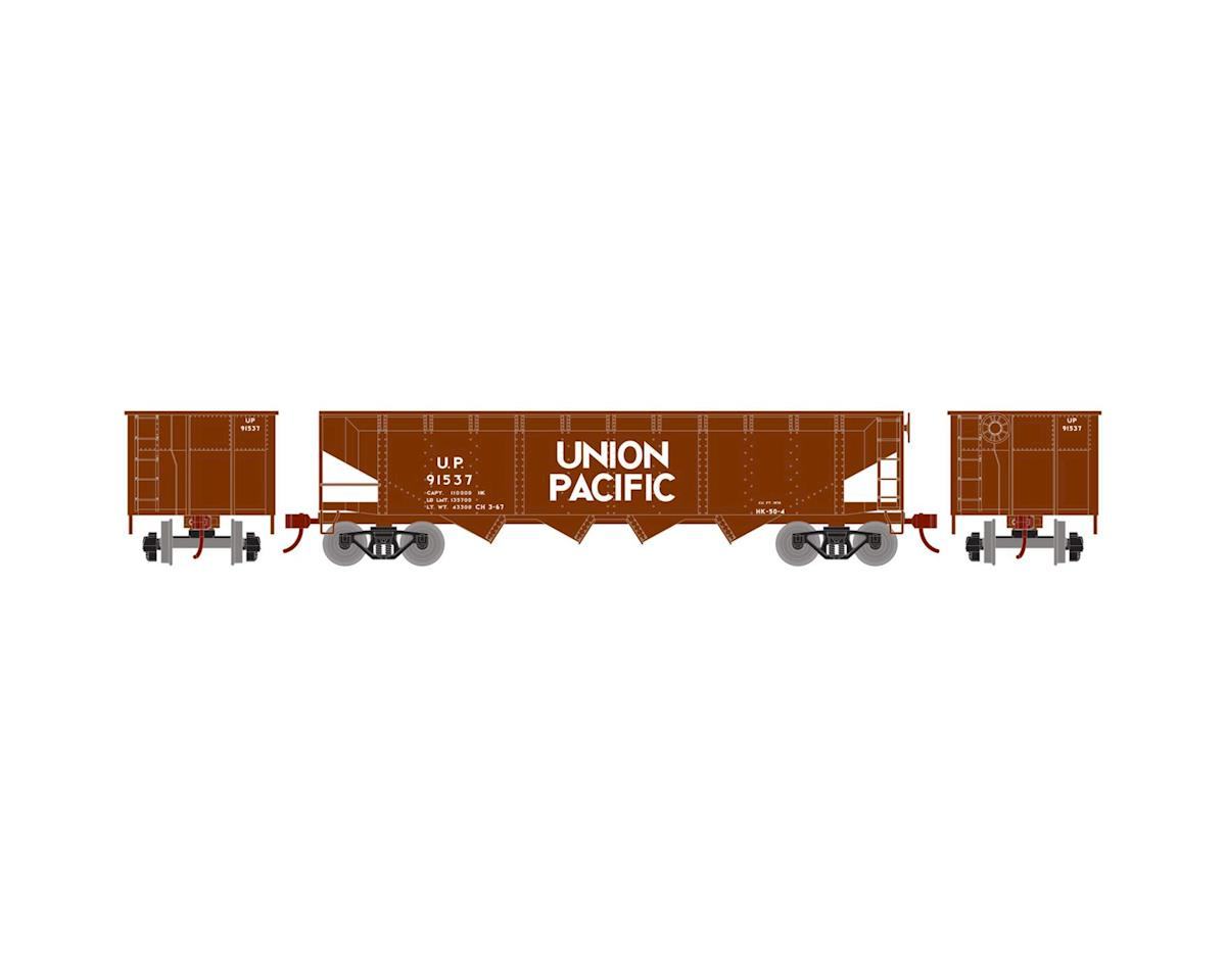 HO 40' 4-Bay Offset Hopper w/Coal Load, UP #91537 by Roundhouse