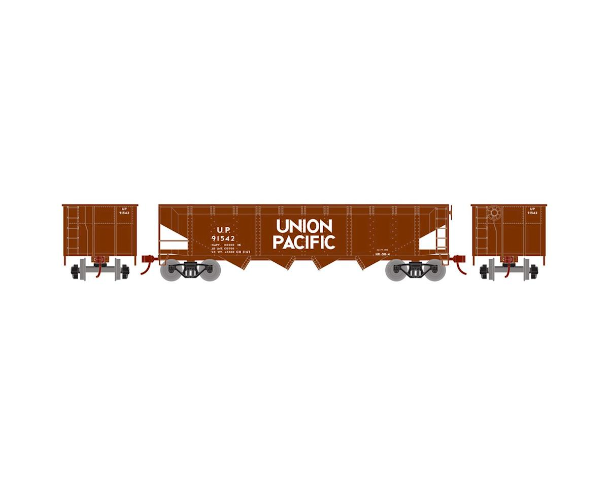Roundhouse HO 40' 4-Bay Offset Hopper w/Coal Load, UP #91542