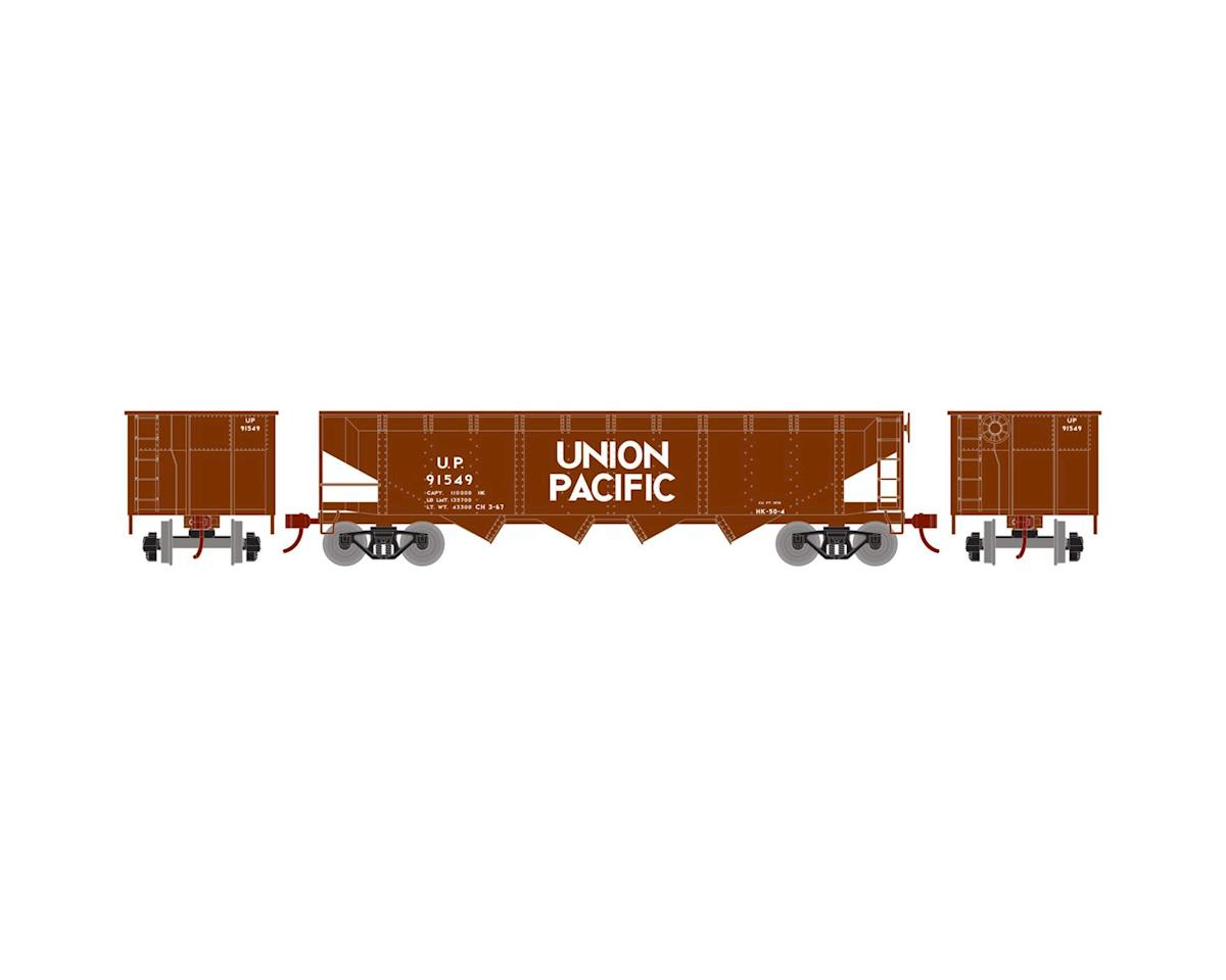 Roundhouse HO 40' 4-Bay Offset Hopper w/Coal Load, UP #91549