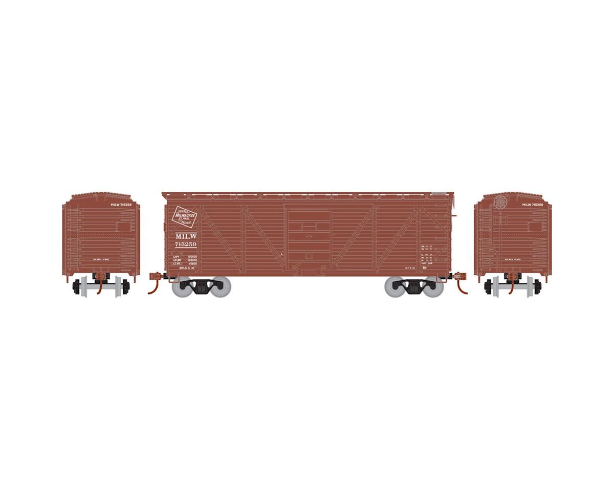 Roundhouse HO 40' Single Sheathed Box, MILW #715259