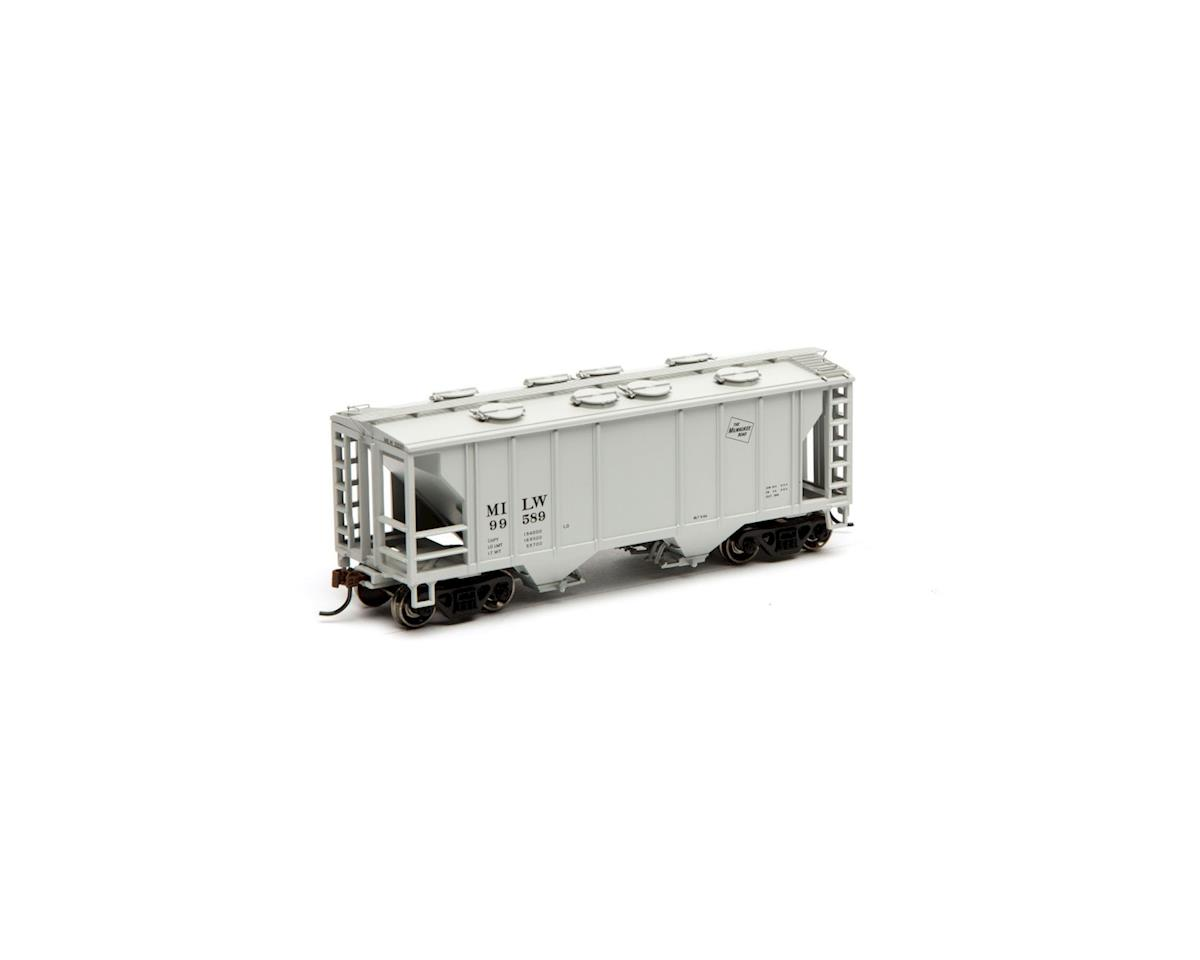 Roundhouse HO PS 2003 2-Bay Cov Hopper, MILW #99589