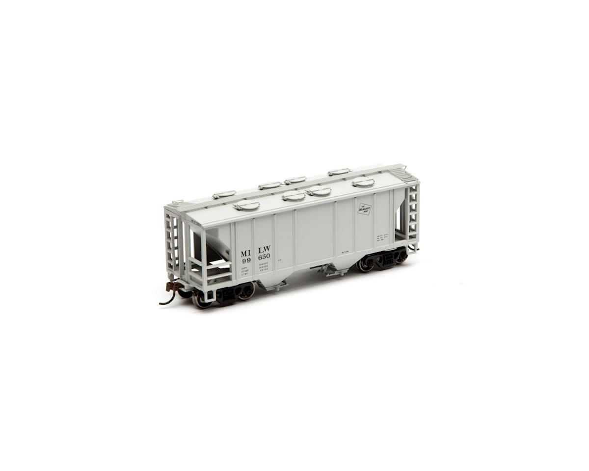 Roundhouse HO PS 2003 2-Bay Cov Hopper, MILW #99650
