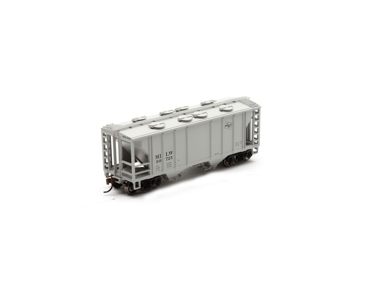 Roundhouse HO PS 2003 2-Bay Cov Hopper, MILW #99725