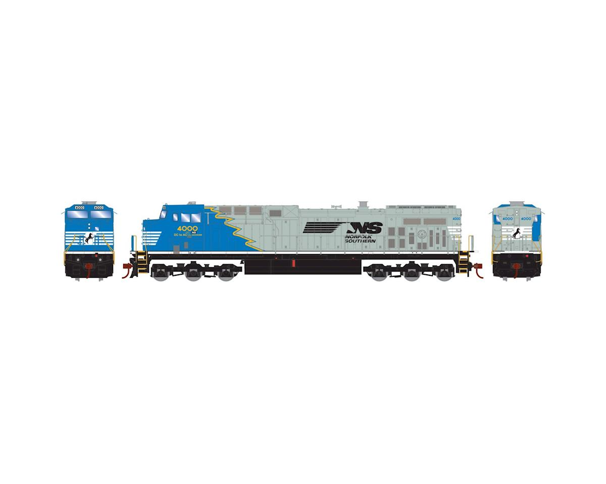 Roundhouse HO AC4400CW, NS/Blue & Gray #4000