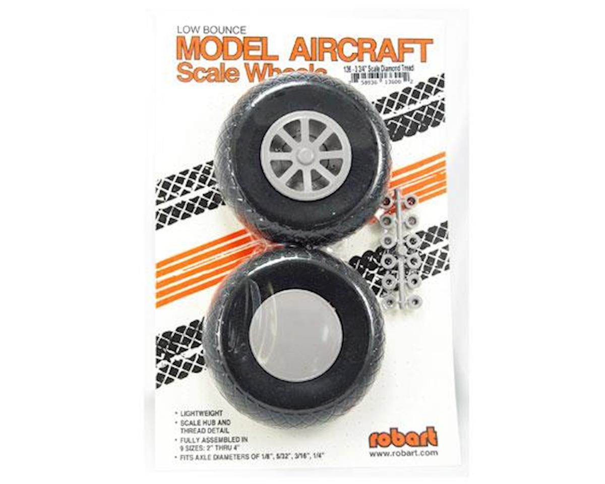 Robart UX375-Scale Diamond Tread Wheels