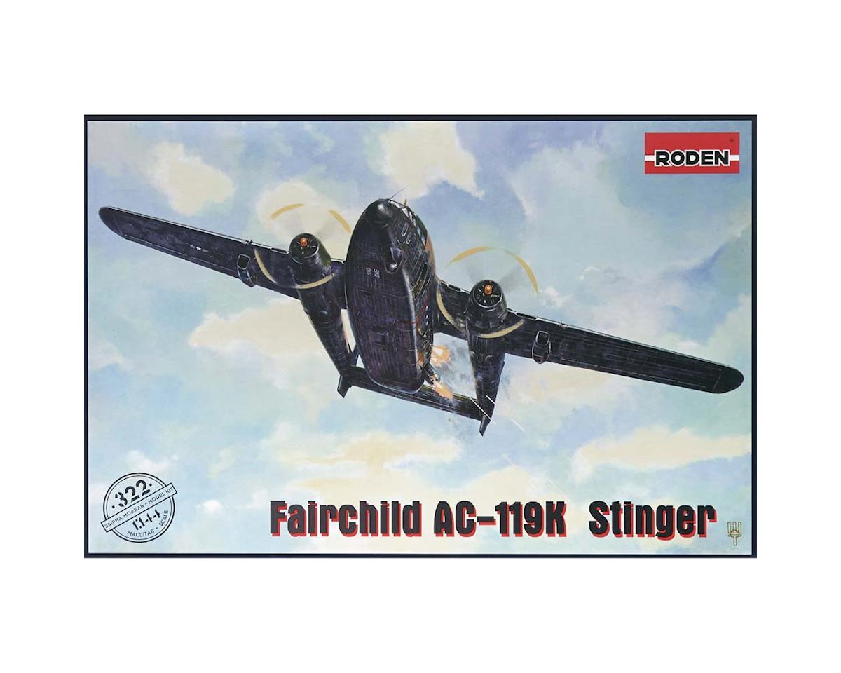 Roden 322 1/144 Fairchild AC119K Stinger Ground Support Aircr