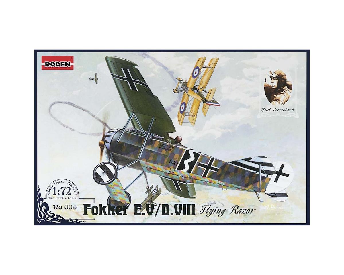 4 1/72 Fokker E V D VIII Aircraft by Roden