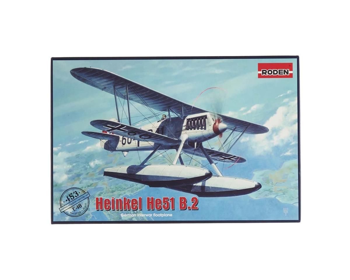 Roden 453 1/48 Heinkel He51 B2 Biplane Fighter w/Floats