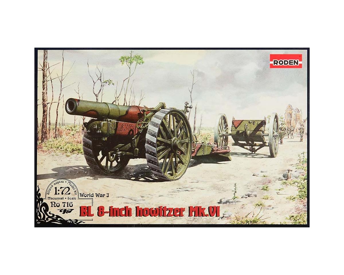 "Roden 716 1/72 BL 8"" Howitzer MK VI Gun (new tooling)"