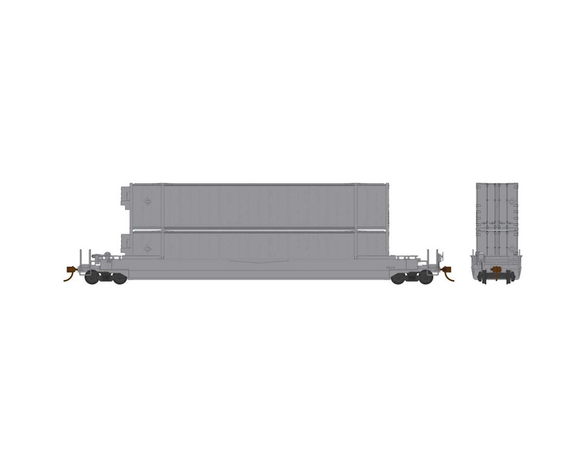 HO 53'Well Car w 2 Containers Undecorated | relatedproducts