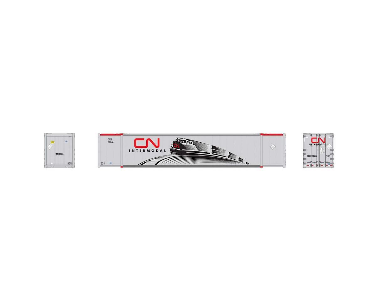 Rapido Trains HO 53'High Cube Container, CNRU/CN/Intermodal (2)