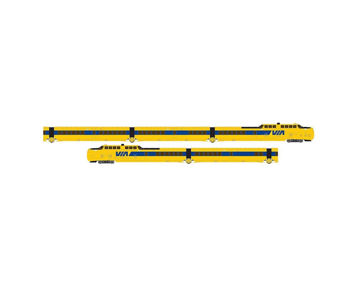 Rapido Trains N TurboTrain Set, VIA (5)