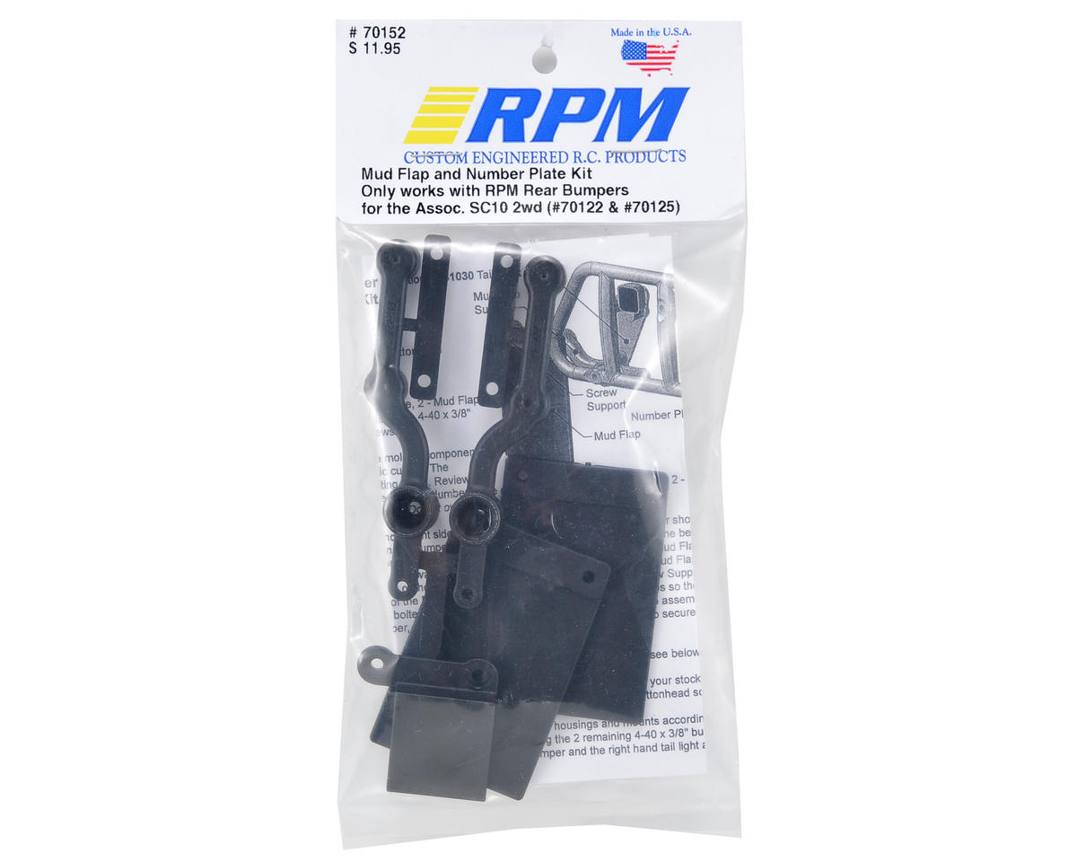 RPM SC10 Mud Flap & Number Plate Kit