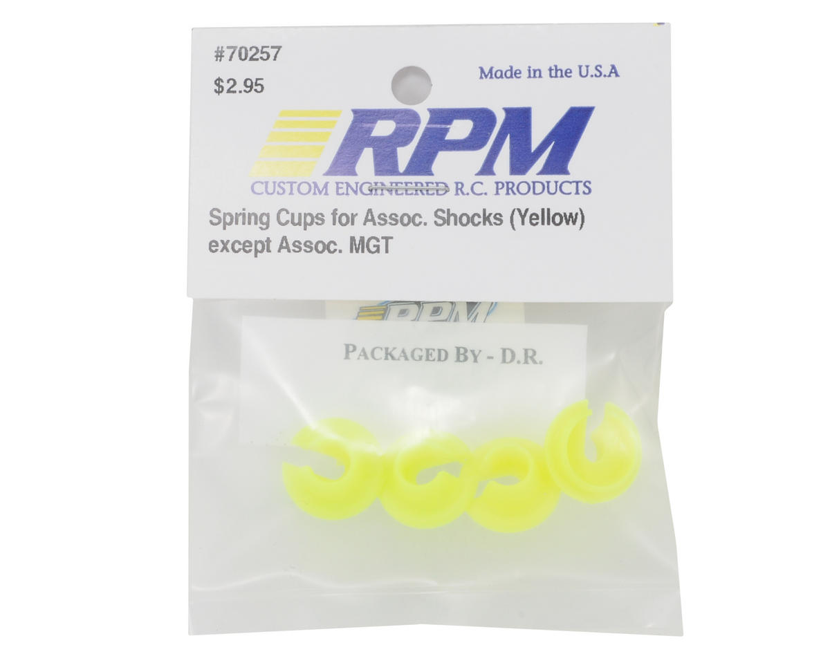 RPM Lower Spring Cups (Yellow)
